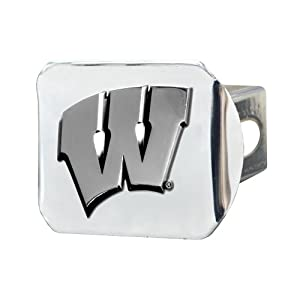 Buy FANMATS NCAA University of Wisconsin Badgers Chrome Hitch Cover by Fanmats