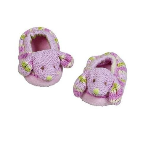 Maison Chic 3-6 Months Knit Booties, Bunny