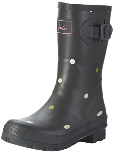 Tom Joule Damen Mollywelly Kurzschaft Gummistiefel, Grau (Grey Kiki Spot), 36 EU