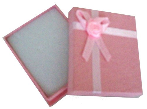 Small Pink Gift Necklace Present Box With Satin