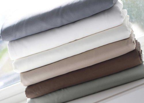 MALOUF FINE LINENS Wrinkle-Free, Oversized Microfiber 3-Piece Bed Sheet Set, TWIN IVORY