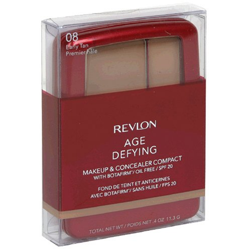 Buy Revlon Age Defying Makeup & Concealer Compact with Botafirm, SPF 20, Early Tan 08, 0.4 oz (11.3 g) (Pack of 2)