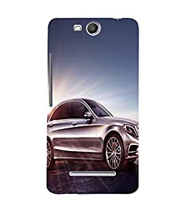 printtech Superfast Car Back Case Cover for Micromax Canvas Juice 3 Q392