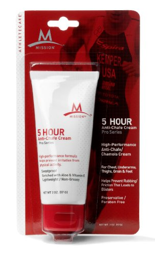 Mission Athletecare 5 Hour Anti-Chafe Cream, 2-Ounce Tube
