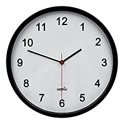 Hippih 10 Silent Quartz Decorative Wall Clock with Glass Cover Non-ticking Digital,2315-D