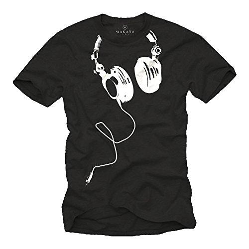 Coole-Dj-T-Shirts-mit-KOPFHRER-schwarz-Gre-S-XXXL
