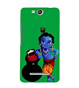 Butter Thief Krishna 3D Hard Polycarbonate Designer Back Case Cover for Micromax Canvas Juice 3+ Q394 :: Micromax Canvas Juice 3Plus Q394