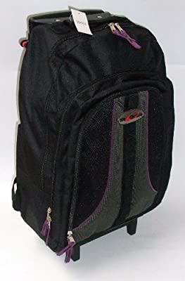 Cabin size approved Backpack on Wheels. Wheeled Camping / Hiking Rucksack PURPLE