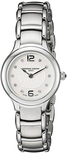 Frederique Constant FC-200WA1ER6B - Reloj para mujeres, correa de acero inoxidable color plateado