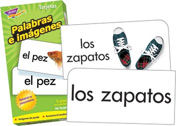 Palabras e imagenes (Picture Words) Flash Card