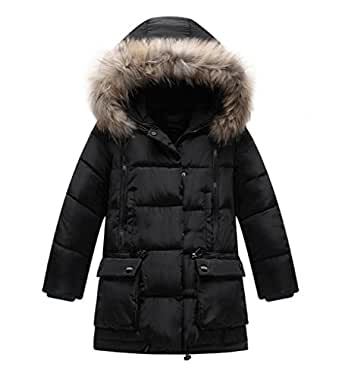 Amazon.com: Roseate Girl's Long Coat Quilted Puffer Down
