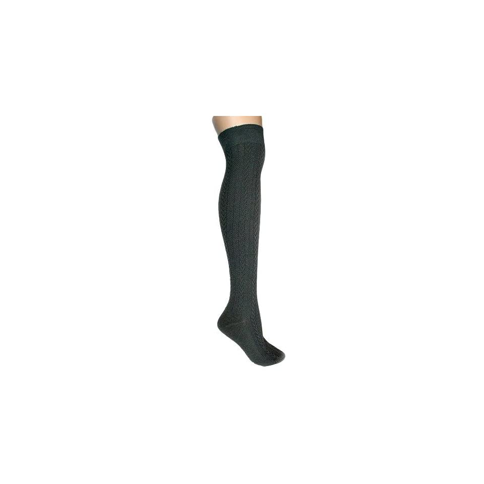 cd7b49f1d06 Gray Cable Knit Thigh High Over The Knee Socks  Apparel  on PopScreen