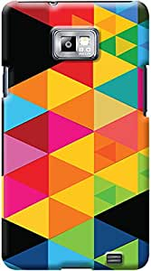 Kasemantra Multi Color Triangle Case For Samsung Galaxy S2
