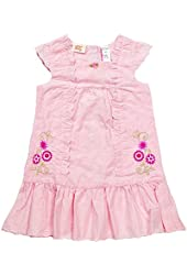 Little Bitty Girls Eyelet Dress with Flower Embroidery
