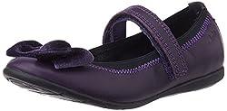 Clarks Girls Dancevelvetpre Purple Leath Leather Mary Jane Flats - 9 kids UK/India (27 EU)