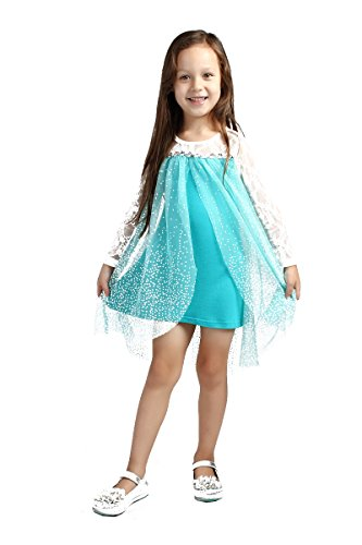 Santana Fashion Girls Snow Queen Elsa Costume Snow Princess Dresses
