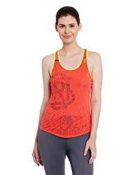 Reebok Women's Plain T-Shirt (AJ0373_Red_X-Small)