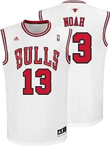 NBA adidas Chicago Bulls Joakim Noah Revolution 30 Replica Performance Jersey - White by adidas