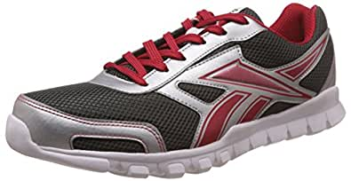 Reebok Men's Transit Runner 2.0 Gravel, Silver, Red and White Running Shoes - 10 UK/India (44.5 EU) (11 US)