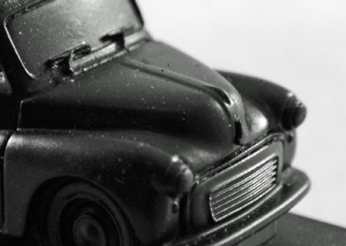 Morris Minor Convertible - Coal Model - Hand Crafted - 204