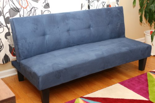 home-life-navy-blue-microfiber-with-adjustable-back-klik-klak-sofa-futon-bed-sleeper-convertible-qua