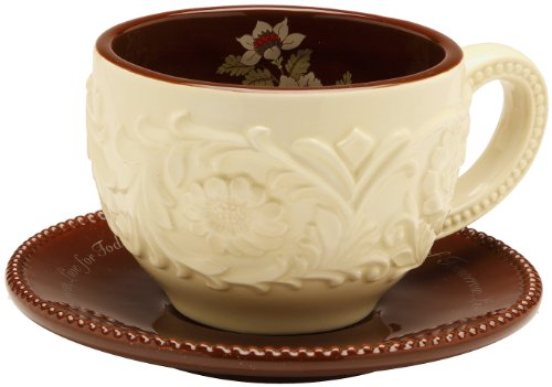 Shared Blessings Cherish Drea Live 2-1/2-Inch H Tea Cup And 5-1/4-Inch Diameter Saucer