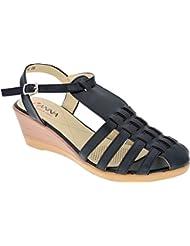 IAnna Gladiator Designed Wedge Heel Sandal - B01KLZA9B8