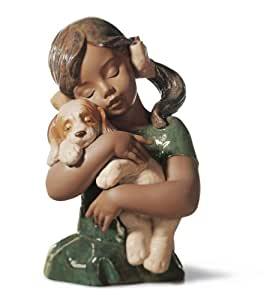 Amazon.com: Lladro Gabriela Girl With Puppy Figurine: Home & Kitchen