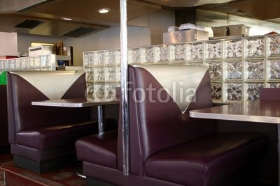 "Wallmonkeys Peel and Stick Wall Decals - Diner Booths - 60""W x 40""H Removable Graphic"