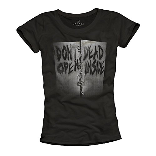 Dont-Open-Dead-Inside-Camiseta-Zombies-mujer