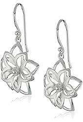 Sterling Silver Open Double Flower Earrings