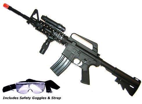 M16A4 Airsoft Rifle  LED illuminator, laser sight