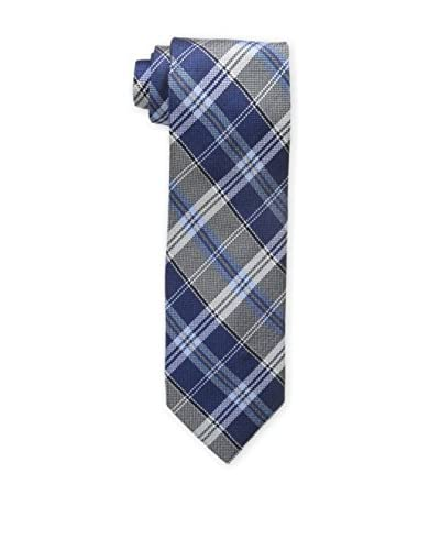 Bruno Piattelli Men's Classic Plaid Tie, Blue