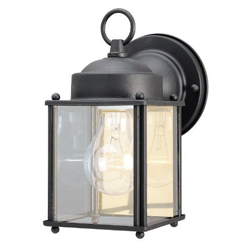 westinghouse-6697200-one-light-exterior-wall-lantern-textured-black-finish-on-steel-with-clear-glass