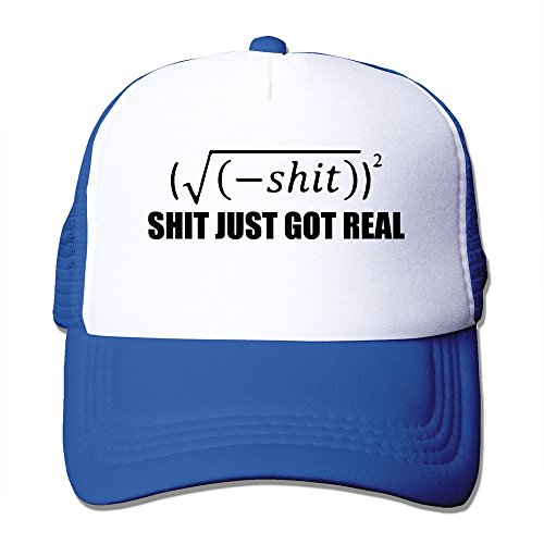 Handson Personalized Snapback Funny Mathematic Shit Just Got Real Basketball Cap Hat RoyalBlue
