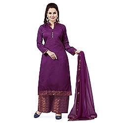 ZHot Fashion Women's Plain and Solid Un-stitched Dress Material In Banglori Silk Fabric (ZHAIS1002) Purple