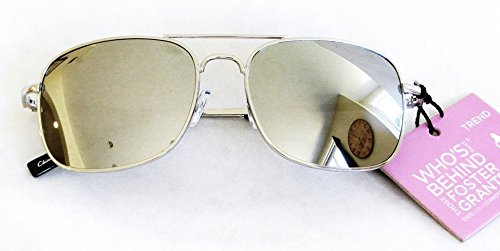 Foster-Grant-Womens-Silver-Mirrored-Sunglasses-731-100-UVA-UVB-Protection-FREE-BONUS-MICROSUEDE-CLEANING-CLOTH
