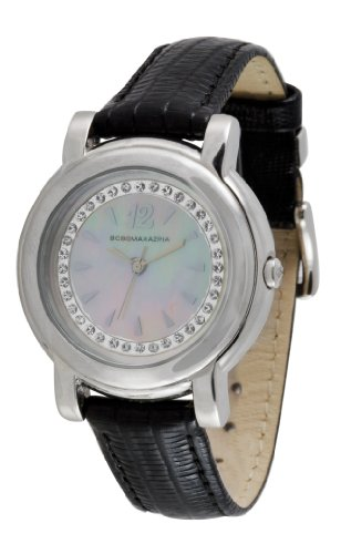 BCBGMAXAZRIA Ladies Watch BG6206 with Black Leather Strap