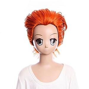 SureWells Orange short cosplay wig HUNTERxHUNTER Hisoka half wig lacefront wig