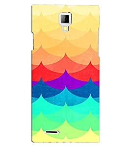 PRINTVISA Abstract Colourful Pattern Case Cover for Micromax Canvas Xpress A99