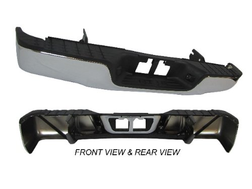 07-11 Toyota Tundra Rear Step Bumper Face Bar Chrome Full Assy With Top Pad & Bumper Support,Without Sensor Hole front-886699