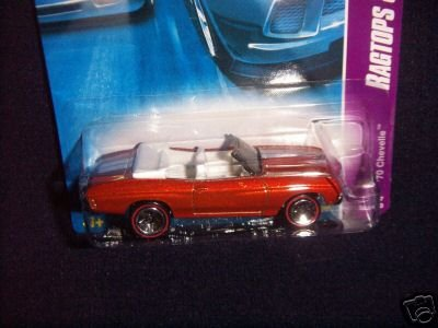 Hot Wheels 2007-083 '70 Chevelle Ragtops and Roadsters Series Orange with Fun Facts 1:64 Scale 1:64 Scale - 1