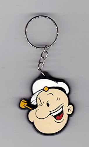 POPEYE The Sailorman Cartoon Rubber Keychain / Key-ring 1.5x2 Inches