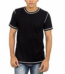 Younsters Choice Men's Cotton T-Shirt (YC-5821_Black_X-Large)