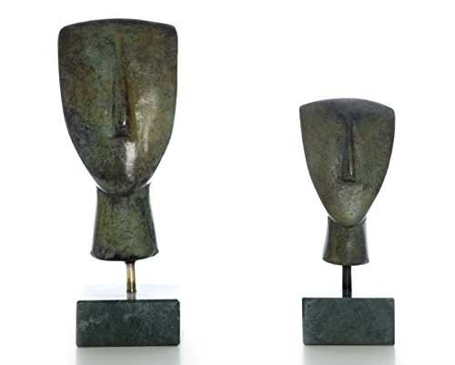 Cycladic : Bronze Art Series-Têtes d'un lot