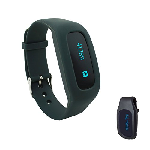 ZGES BEACHBORN FIT Apple and Android Bluetooth OLED J Style Walk Pedometer Activity Tracker with FREE Belt Clip Holster – Holiday SALE – NEW Release For The Holidays!! (Black)