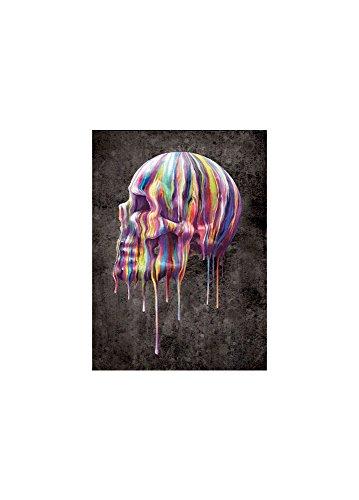 Nemesis Now Dripping foto rigida poster da parete 3d teschio Taglia Unica