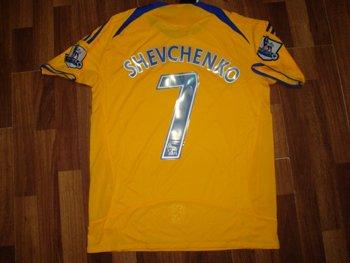 08-09 CHELSEA FC AWAY JERSEY SCHEVCHENKO + FREE SHORT (SIZE L)