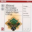 The Complete Concertos Op 9;Adagio For Organ & Strings