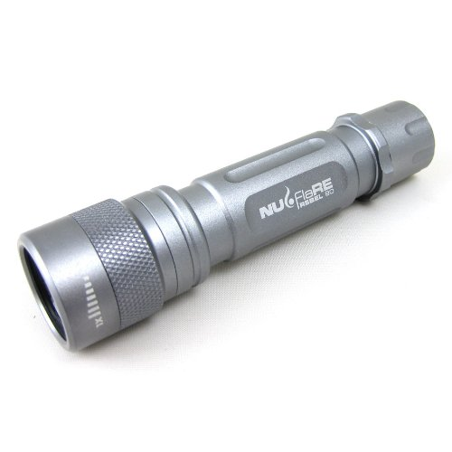 Nu-Flare 77R92L Ultrabright Luxeon LED Aluminum Flashlight, Gumetal, 210 Lumens